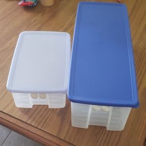 Two Tupperware Fridge Smart Containers